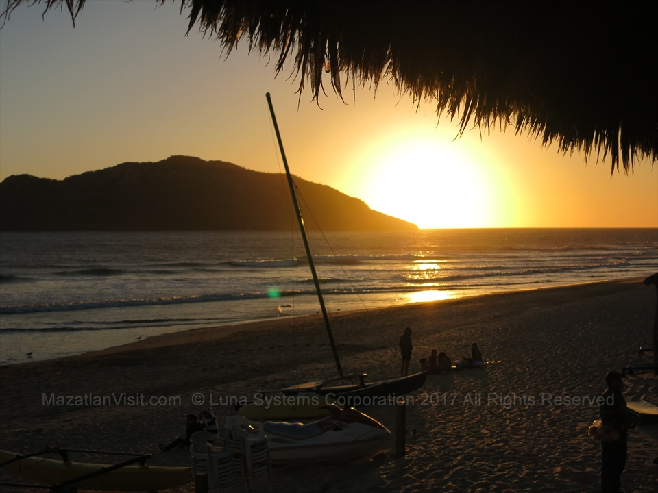 Sunsets in Mazatlán, Sinaloa, Mexico from Joe's Oyster Bar