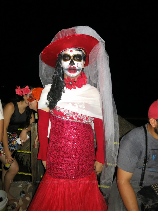 Halloween party at Joe's Oyster Bar in Mazatlán, Sinaloa, Mexico