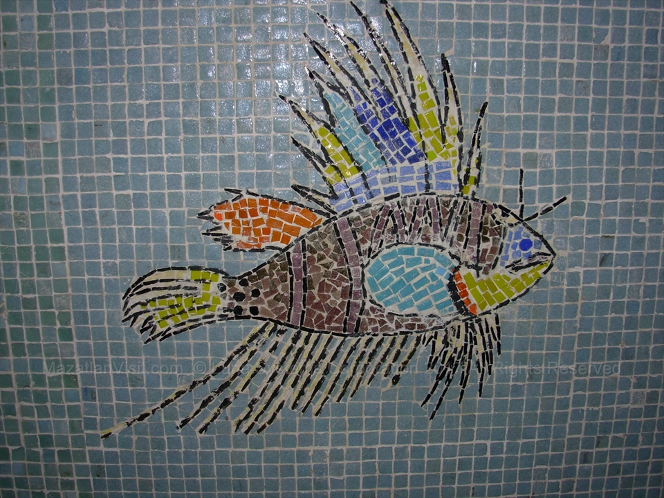 Hotel De Cima tunnel mosaic under the malecon in Mazatlán, Sinaloa, Mexico