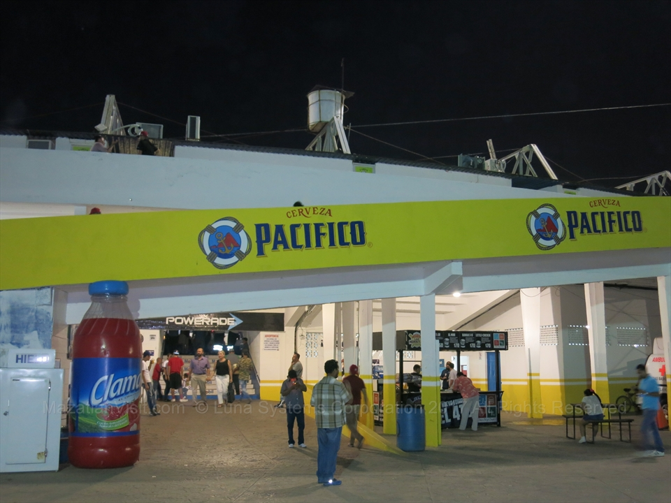 food fair at the baseball stadium in Mazatlán