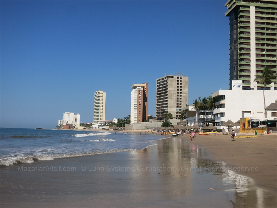 Golden Zone in Mazatlán, Sinaloa, Mexico