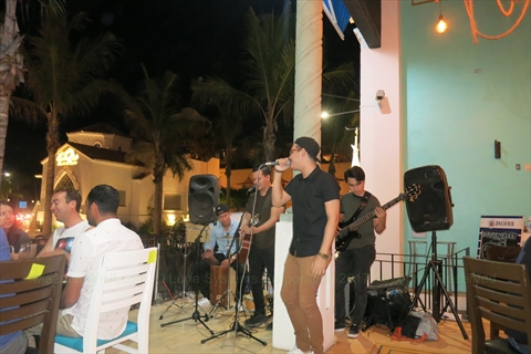 band at Fish Market restaurant in Mazatlán, Sinaloa, Mexico