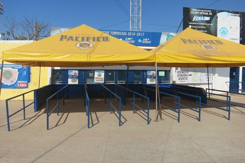 Ticket window at the baseball stadium in Mazatlán