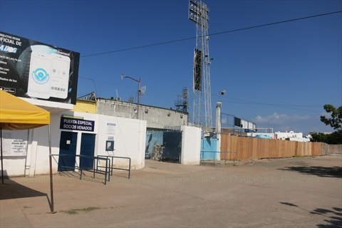 Renovations at the baseball stadium in Mazatlán