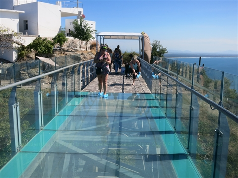 new glass bottom lookout at El Faro Lighthouse in Mazatlán, Sinaloa, Mexico