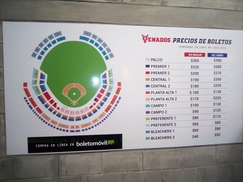 2018 Mazatlán Venados ticket prices